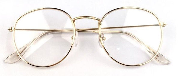 Optical Frames Metal Round Clear Lens Eyeware