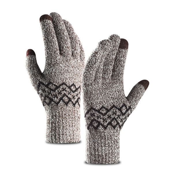 All Gender Warm Thick Knit Touch Screen Wool Gloves