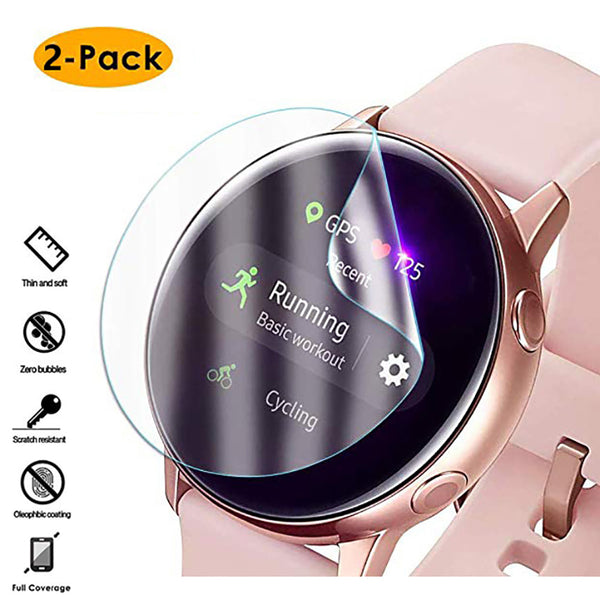 Thin 2pc Samsung Watch 40mm 44mm Round Edge Screen Protector