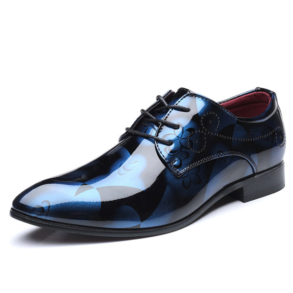 Patent Leather Formal Pointed Toe Business Dress Shoes