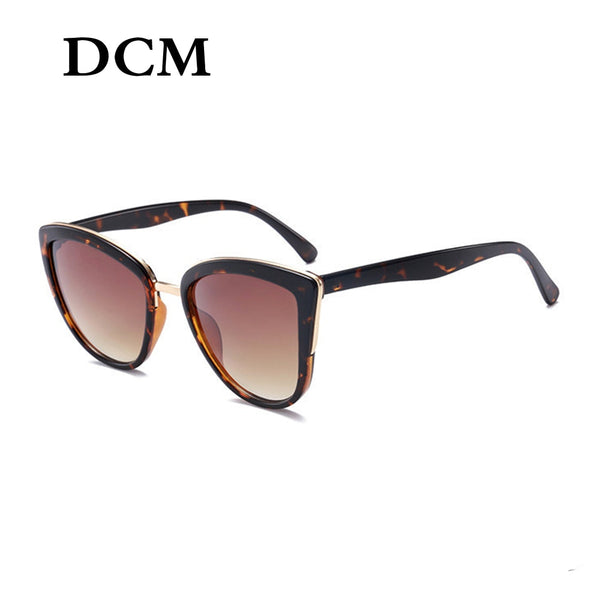 Women Vintage Gradient Retro Cat Eye Sunglasses