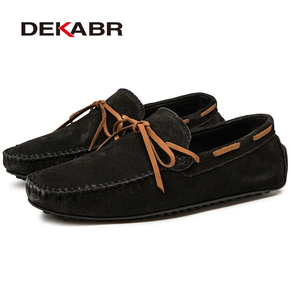 Casual Men Genuine Leather Breathable Loafers