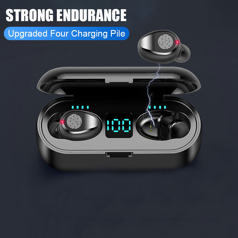 LED Touch Bluetooth Wireless Earbuds with Stereo and Charger