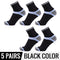 5pc Combed Cotton Men's High Quality Stripe Mid-Long Socks
