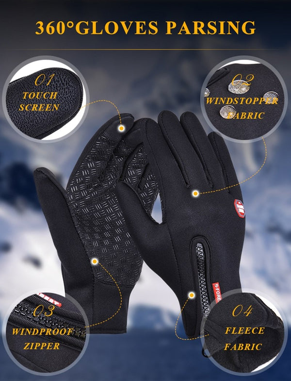 Touchscreen capable Thermal Gloves