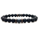Men Natural Moonstone Bead Lava Stone Diffuser Bracelet