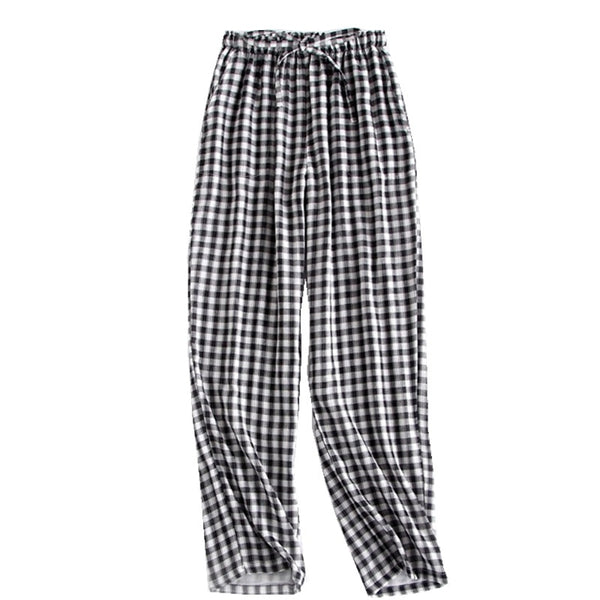 Plaid Men Loose Sleeping Trousers