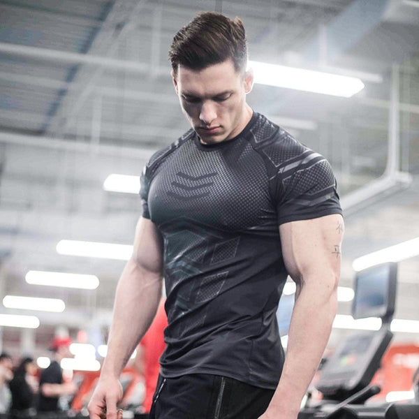 Compression Skinny Bodybuilding Male Workout Top