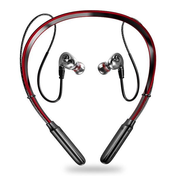 Wireless Bluetooth Neckband Sport Bass in-Ear Headphones With Mic