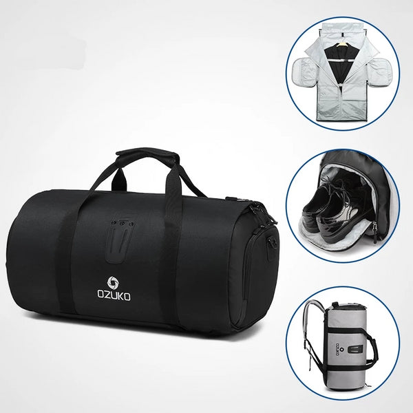 Multifunction Large Capacity Waterproof Travel Bag with Suit Storage and Shoe Pouch