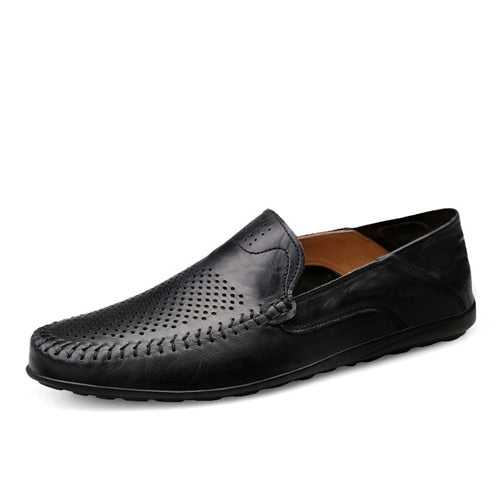 Italian Luxury Genuine Leather Slip-on Moccasins