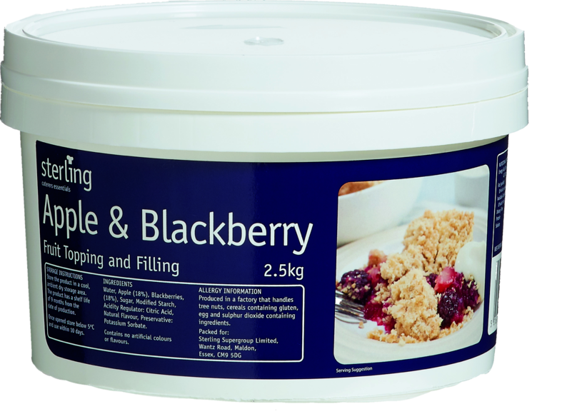9911 Apple & Blackberry Fruit Pie Filling - 1x2.5kg Tub