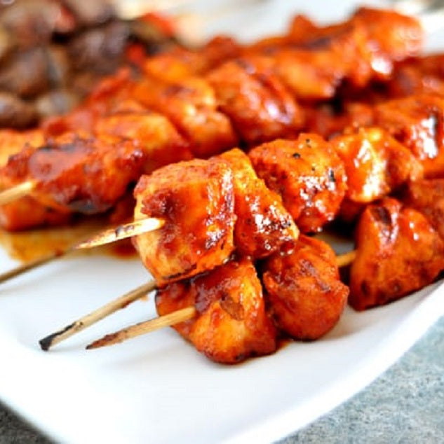 9247 Kennedys Sticky BBQ Large Chicken Kebabs - 1x2