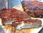8700 Kennedys Sticky BBQ Pork Loin Steaks 6oz (170g) - 1x2