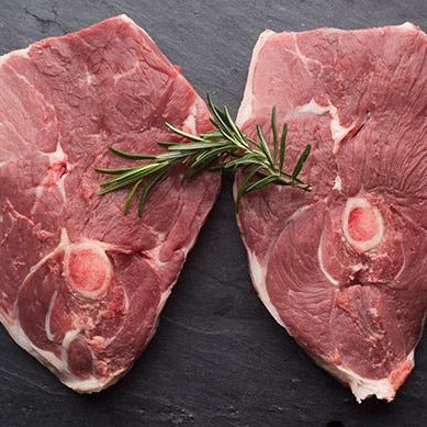 7870 Kennedys Bone In Lamb Leg Steaks 8oz (227g) -  Frozen 1x2