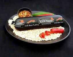 9565 Mini Chilli Black Pudding Chubb - 1x200g
