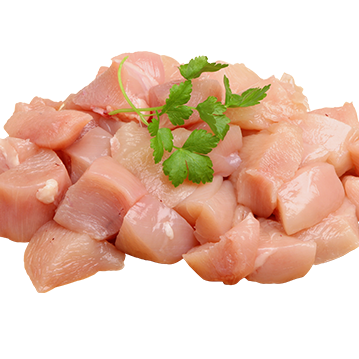 1765 Kennedys Grade A Diced Chicken Breast (Frozen) - 1 x 500g