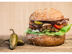 5298 Kennedys Gourmet 95% Jalapeno & Honey Beef Burger 6oz (170g) - 1x4