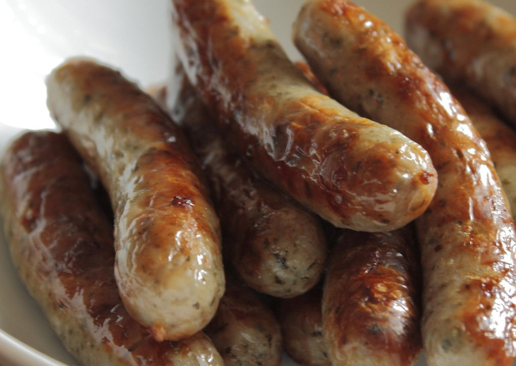 "7365 Kennedys ""Ribble Valley"" 65% Pork Sausage – 1x10"