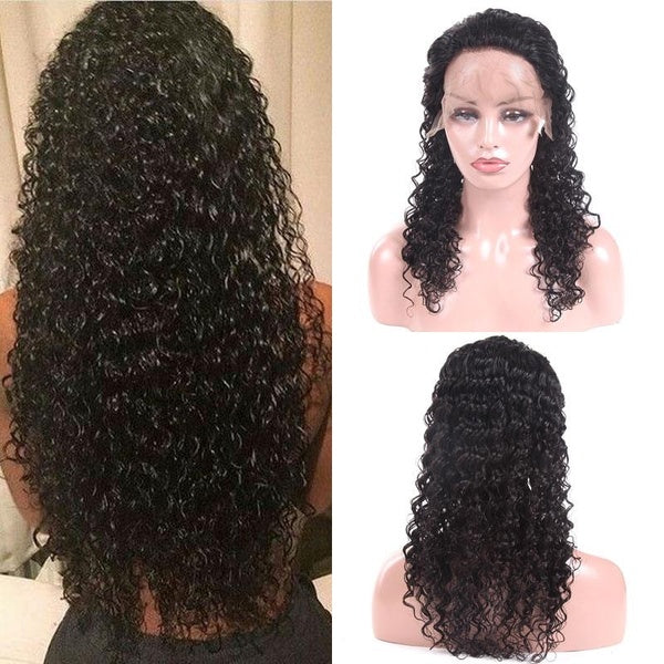 13x6 Lace Front Human Hair Wigs Remy Water Wave Wig Brazilian Hair Curly Human Hair Wigs for Black Women 13x6 Lace Frontal Wigs