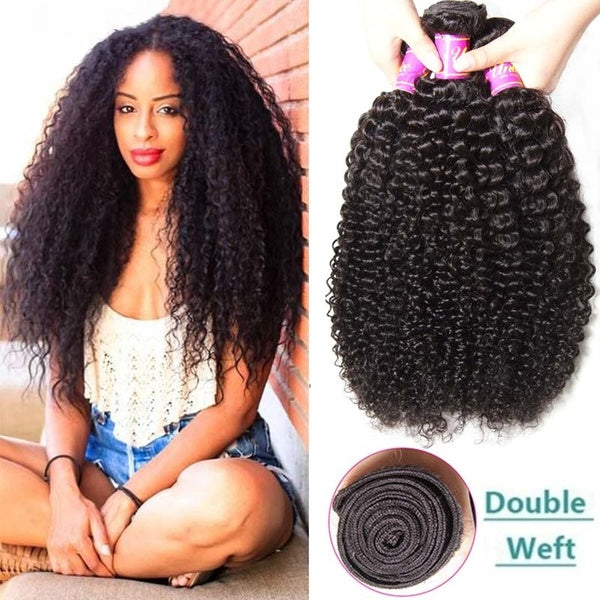 28 30 Inch Kinky Curly Bundles Deals 1 3 4 Bundles 100% Human Hair Extensions Peruvian Hair Weave Human Hair Bundles Remy