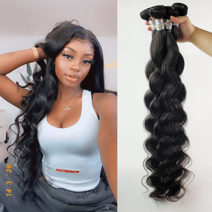 Body Wave Bundles 1/3/4 Pcs 30 Inch Bundles Deal Full 100% Human Hair Brazilian Hair Weave Bundles Long Remy Hair Extensions