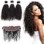 SheBad Frontal/3 Bundles Deep Curly