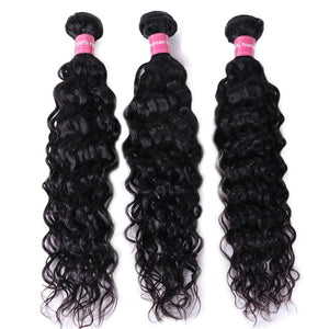 Brazilian Water Wave Bundles 8-30Inch Human Hair Bundles Natural Color Remy Hair Weave Extensions Free Shipping