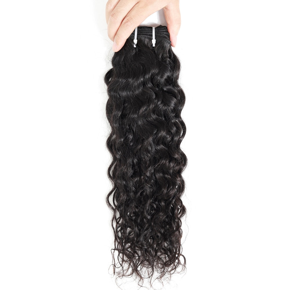 Brazilian Water Wave Bundles 8-28 Inch Human Hair Extension 1/3/4 Pieces Remy Hair Weave Bundle Deals Natural Color