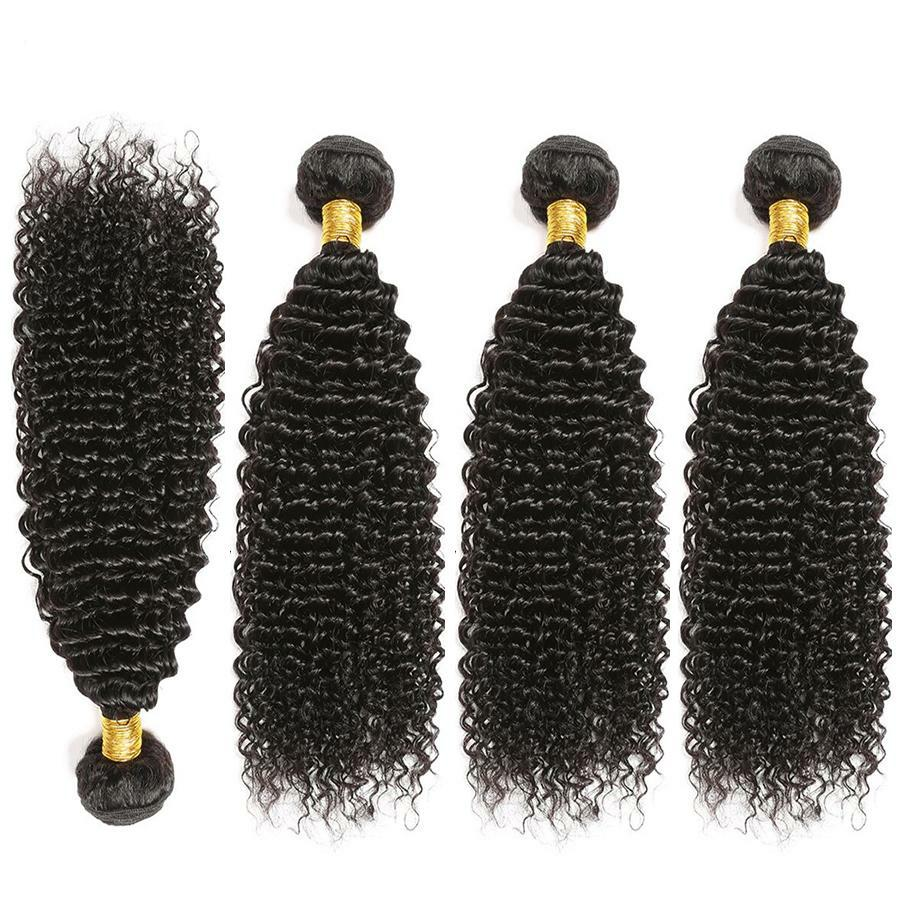 Hair Mongolian Kinky Curly Hair Bundles Non Remy Human Hair Extensions Can Buy 3/4 Bundles Thick Kinky Curly Bundles