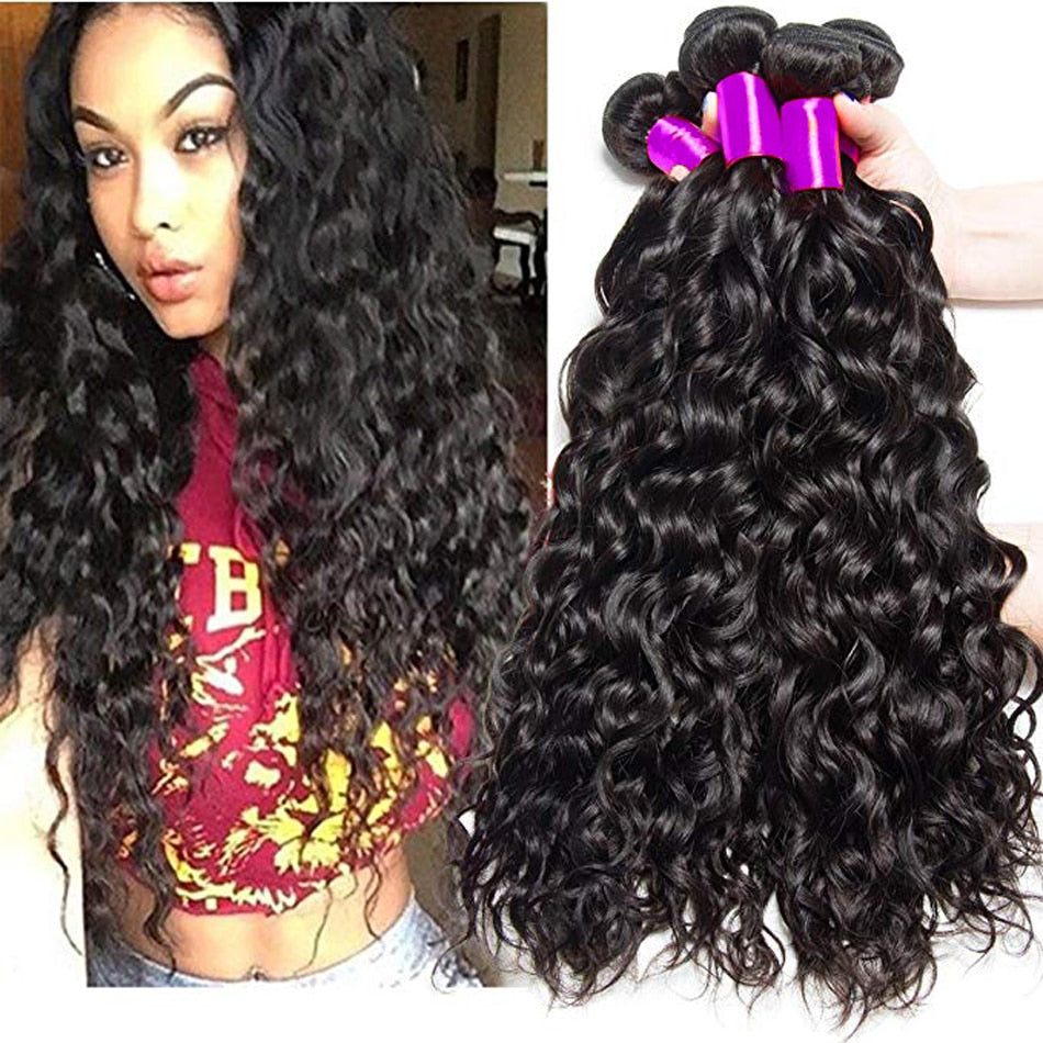 Peruvian Water Wave Bundles Deals 100% Human Hair Weave Bundle Extensions Remy Peruvian Hair Bundles cheveux humain