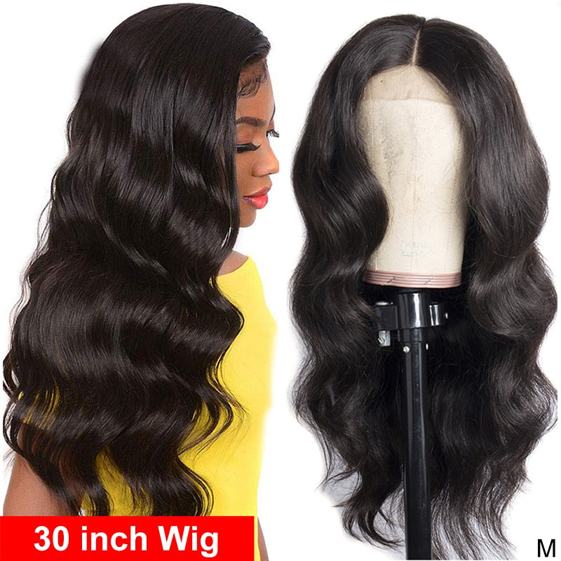Body Wave Wig Lace Wig for Women 4x4 Closure Wig 30 inch Wig 4x4 Lace Wig Remy 150%