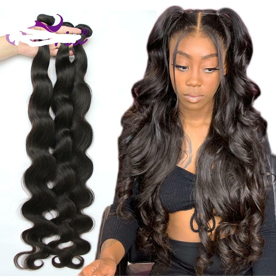 Body Wave Brazilian Hair Bundles 100% Human Hair Bundles 3 4 PCS 30-40 Inches Remy Hair
