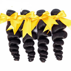 Hair Brazilian Loose Wave 1Bundles 3 Bundle 4 Bundles 100% Remy Human Hair Extensions human Hair Weave Bundles