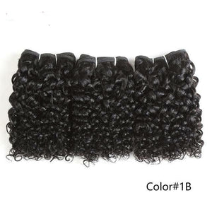 Jerry Curl Human Hair 3Pcs/lot Brazilian Remy Hair Weave Bundles 1B red 27 P4/30 Color Hair Extension For Women