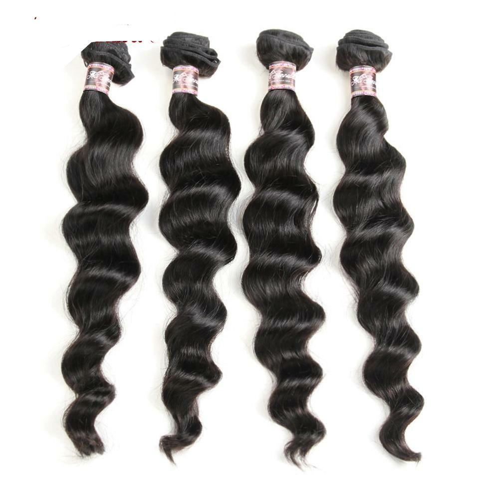 Brazilian Human Hair Loose Wave Bundles 100% Human Hair Weave Bundles 1/3/4 Pieces Natural Color Human Hair Weave