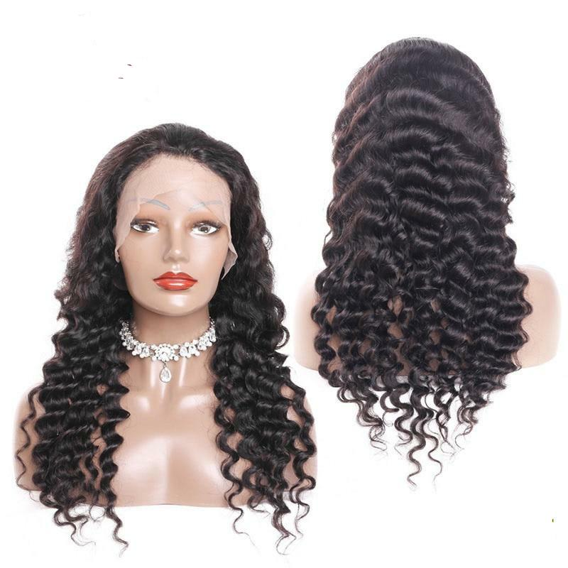 Brazilian Loose Wave Wig 180 Density Lace Front Wig Can Be Dyed Natural Color Transparent Lace Wig Bleached Knots Remy Hair