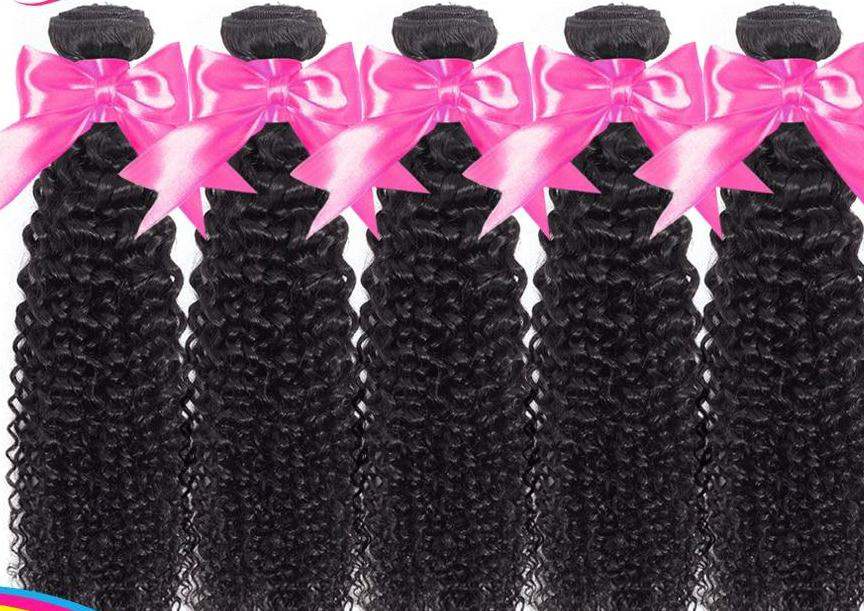 Brazilian Kinky Curly Bundles 5/10 pcs/pack 100% Human Hair Extensions Double Wefts 8-28 inch