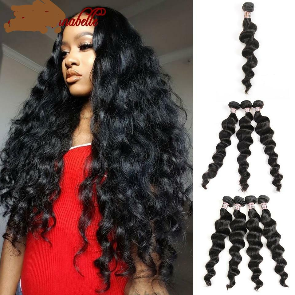 "Peruvian Loose Wave Hair Bundles Human Hair Extensions1/3/4 Bundles Deal 100% Human Hair Weave Bundles 10""-28""Inch"