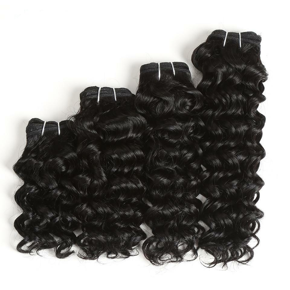 Sleek  Double Drawn Brazilian Jerry Curl 100% Human Hair Natural Color 160 gram Bundles Hair Weave Extension 4Pcs Free Shipping