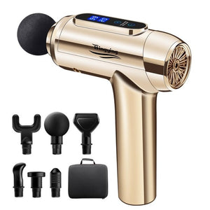 Massage Gun Muscle Relaxation Massager Vibration Fascial Gun Fitness Equipment Noise Reduction Design For Male Female