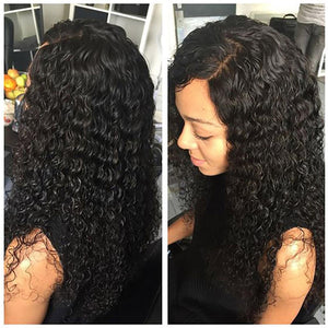 Deep Wave Wigs 13x6 Lace Front Human Hair Prepluck Glueless Brazilian Remy Curly Human hair Wigs