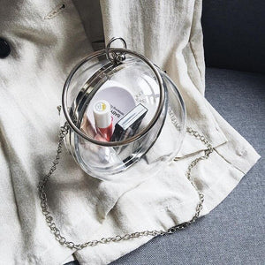 Evening Ball Clutch Women Transparent Bag Clear Pvc Purses Plastic Handbag Silver Chain Shoulder Bag 2020 Red White Day Clutches
