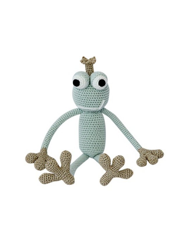 KING FROGGY MINT (small) -  frog prince doll - www.leggybuddy.com