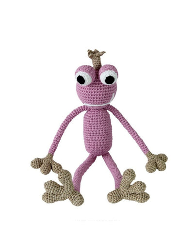 KING FROGGY PINK (small) - frog prince doll - www.leggybuddy.com