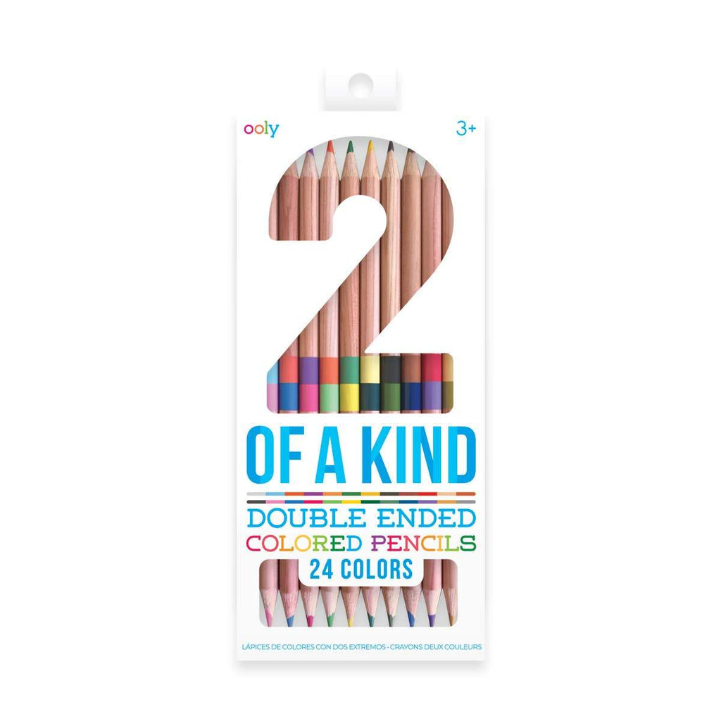 Ooly, 24-Pack Colored Pencils, Double Ended, Ages 3+