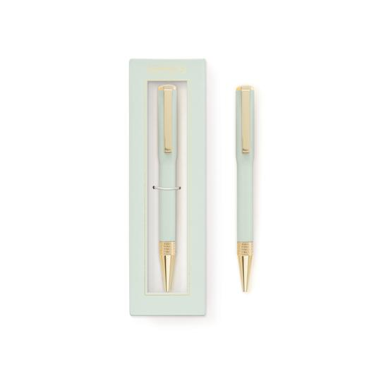Boxed Ink Pen - Mint - Writing and Correspondence