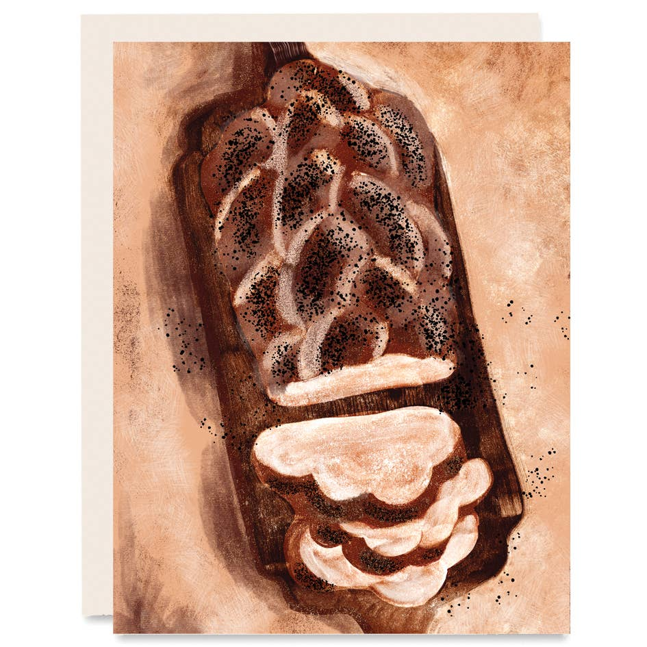 Challah Bread Holiday Card Boxed Set of Six - Card