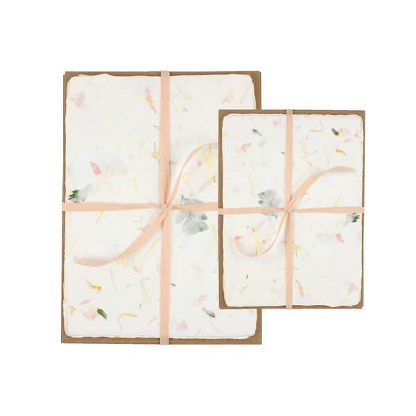 Floral Handmade Paper Pack - 5 x 7 - Writing and