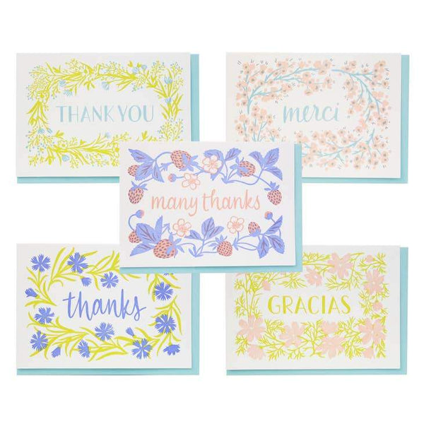Flowering Thanks Assorted Set - Box of 10 - Card